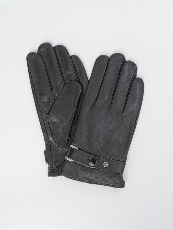 Перчатки кожа коза, цвет черный, арт. 18109429  - цена 1130 руб.  - магазин TOTOGROUP