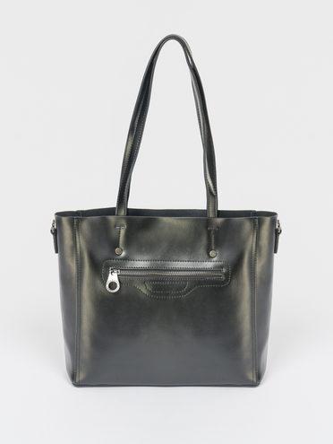 Сумка кожа теленок, цвет черный, арт. 18109521  - цена 5590 руб.  - магазин TOTOGROUP