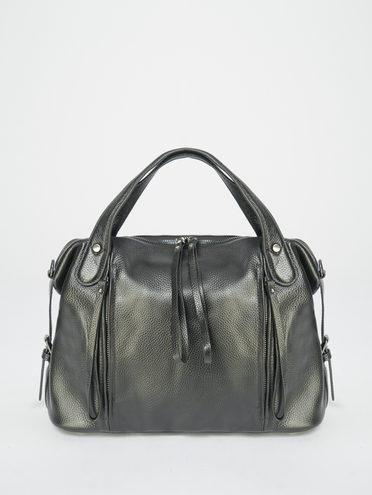 Сумка кожа теленок, цвет черный, арт. 18109524  - цена 5890 руб.  - магазин TOTOGROUP