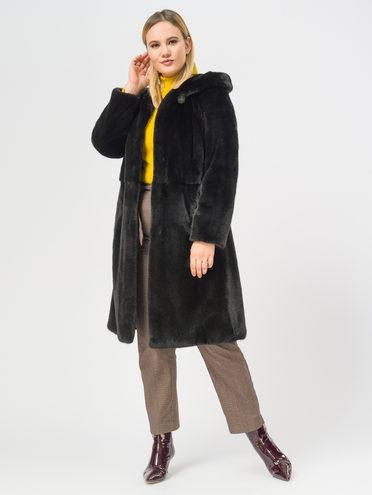 Шуба из норки мех норка, цвет черный, арт. 18109603  - цена 94990 руб.  - магазин TOTOGROUP