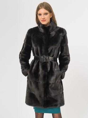 Шуба из норки мех норка, цвет черный, арт. 18109640  - цена 56490 руб.  - магазин TOTOGROUP