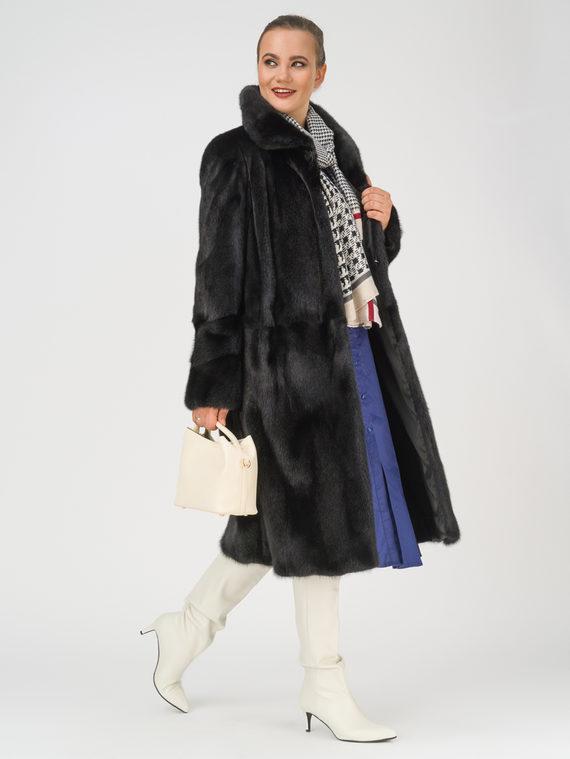 Шуба мех норка крашен., цвет черный, арт. 18109718  - цена 84990 руб.  - магазин TOTOGROUP