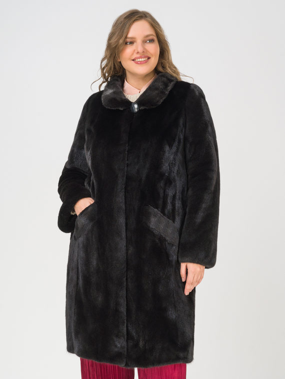 Шуба мех норка крашен., цвет черный, арт. 18109728  - цена 112990 руб.  - магазин TOTOGROUP