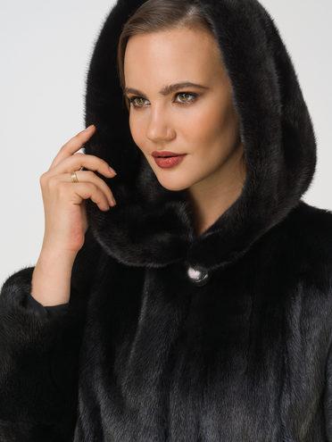 Шуба из норки мех норка крашен., цвет черный, арт. 18109741  - цена 94990 руб.  - магазин TOTOGROUP