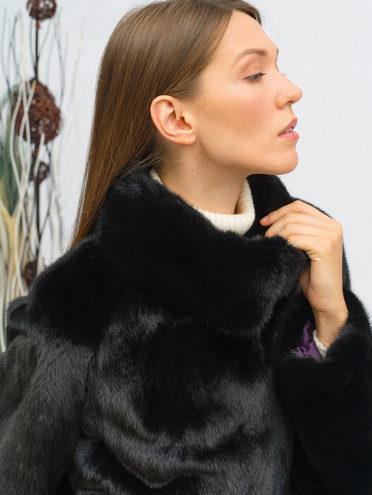 Шуба мех норка крашен., цвет черный, арт. 18109746  - цена 89990 руб.  - магазин TOTOGROUP