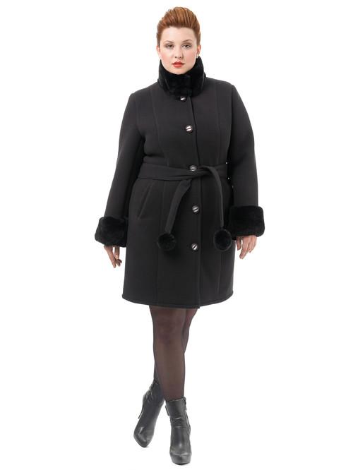 Текстильное пальто артикул 18501766/54 - фото 2