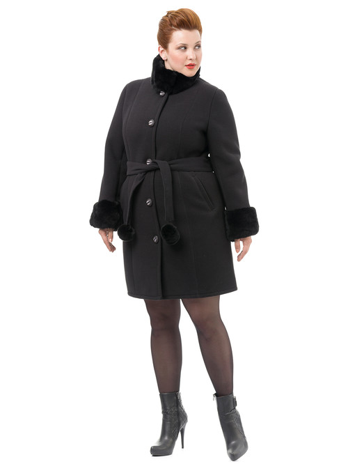 Текстильное пальто артикул 18501766/52 - фото 3