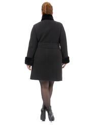 Текстильное пальто артикул 18501766/54 - фото 4