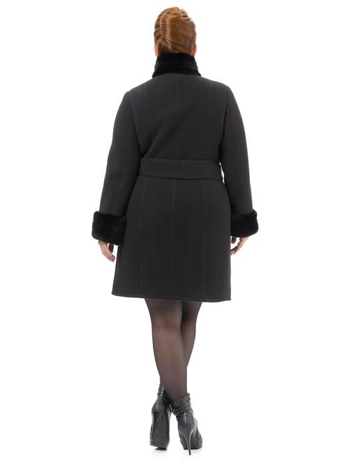 Текстильное пальто артикул 18501766/52 - фото 4