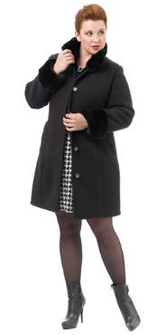 Текстильное пальто артикул 18501766/54 - фото 5