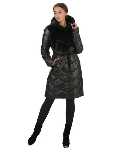 Пуховик текстиль, цвет черный, арт. 18602561  - цена 5290 руб.  - магазин TOTOGROUP