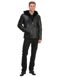 Кожаная куртка артикул 18602624/46 - фото 2