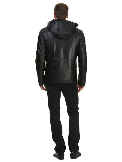 Кожаная куртка артикул 18602624/46 - фото 4