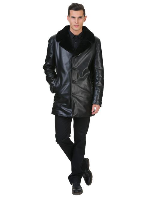Кожаная куртка артикул 18602638/46 - фото 2