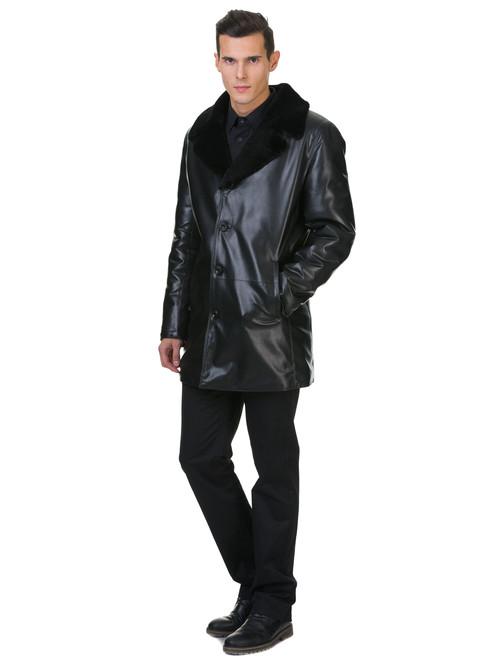 Кожаная куртка артикул 18602638/46 - фото 3