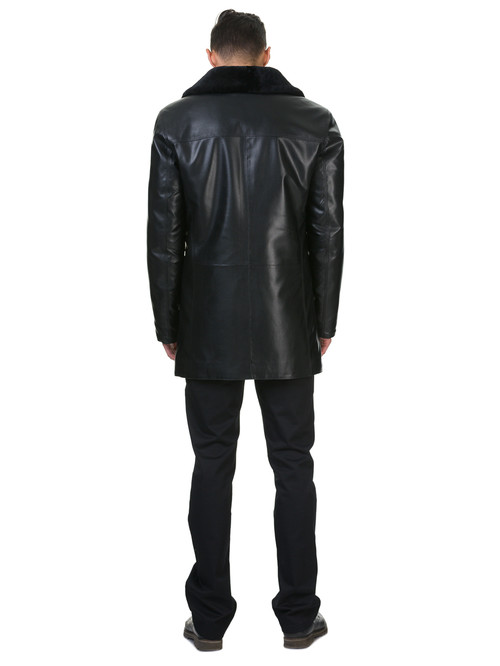 Кожаная куртка артикул 18602638/46 - фото 4