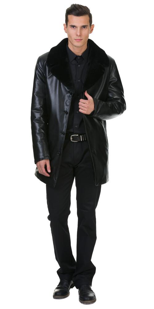 Кожаная куртка артикул 18602638/46 - фото 5