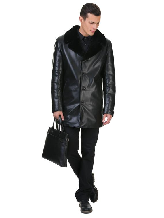 Кожаная куртка эко кожа 100% П/А, цвет черный, арт. 18602638  - цена 8990 руб.  - магазин TOTOGROUP