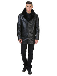 Кожаная куртка артикул 18602640/46 - фото 2