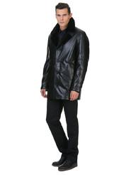 Кожаная куртка артикул 18602640/46 - фото 3