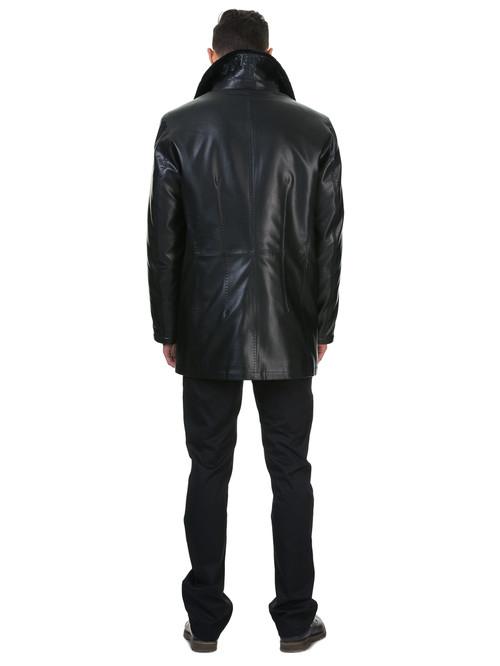 Кожаная куртка артикул 18602640/46 - фото 4