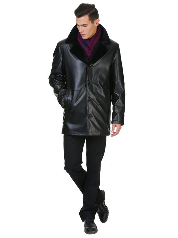 Кожаная куртка эко кожа 100% П/А, цвет черный, арт. 18602640  - цена 8990 руб.  - магазин TOTOGROUP