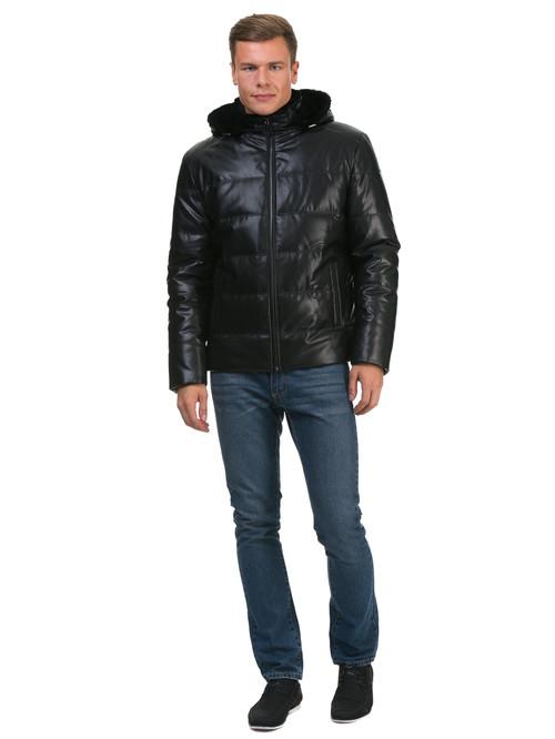 Кожаная куртка артикул 18602684/48 - фото 2