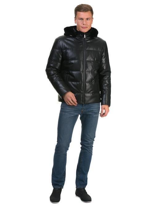 Кожаная куртка артикул 18602684/48
