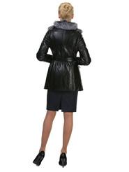 Кожаная куртка артикул 18602703/42 - фото 3