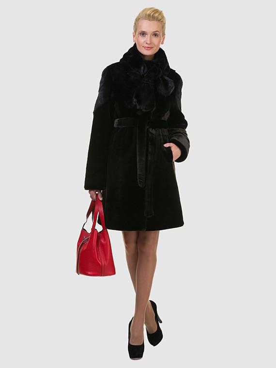 Шуба под норку мех под норку, цвет черный, арт. 18602716  - цена 11990 руб.  - магазин TOTOGROUP
