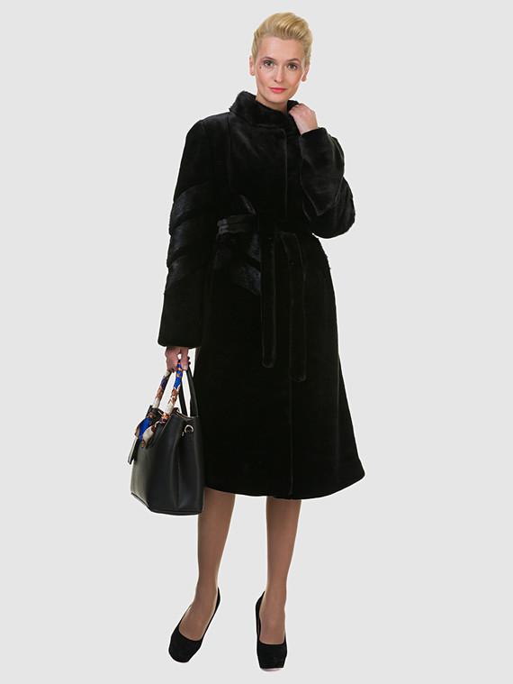 Шуба под норку мех под норку, цвет черный, арт. 18602717  - цена 11290 руб.  - магазин TOTOGROUP