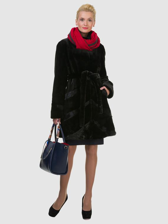 Шуба под норку мех под норку, цвет черный, арт. 18602721  - цена 9490 руб.  - магазин TOTOGROUP