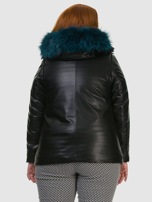 Кожаная куртка артикул 18602728/46 - фото 3