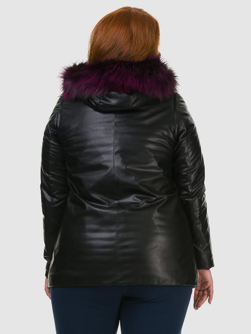 Кожаная куртка артикул 18602730/46 - фото 3