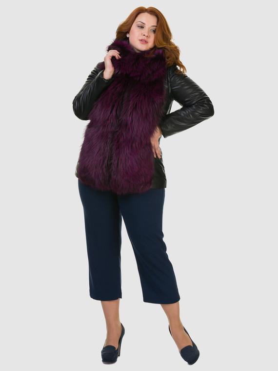 Кожаная куртка эко кожа 100% П/А, цвет черный, арт. 18602730  - цена 11290 руб.  - магазин TOTOGROUP