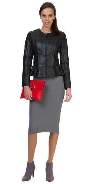 Кожаная куртка кожа овца, цвет черный, арт. 18700016  - цена 9990 руб.  - магазин TOTOGROUP