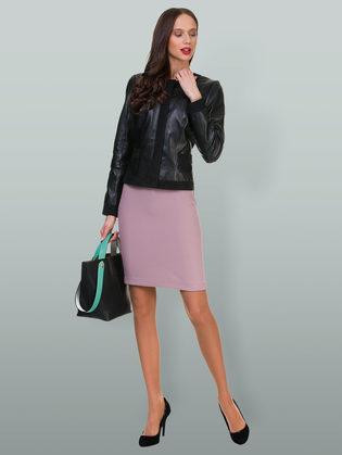 Кожаная куртка кожа овца, цвет черный, арт. 18700017  - цена 10990 руб.  - магазин TOTOGROUP
