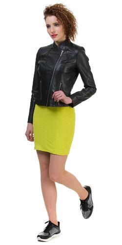 Кожаная куртка кожа овца, цвет черный, арт. 18700023  - цена 11990 руб.  - магазин TOTOGROUP