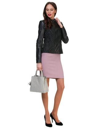 Кожаная куртка кожа овца, цвет черный, арт. 18700032  - цена 11990 руб.  - магазин TOTOGROUP