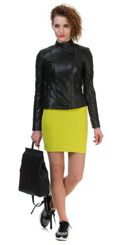 Кожаная куртка кожа овца, цвет черный, арт. 18700033  - цена 11990 руб.  - магазин TOTOGROUP