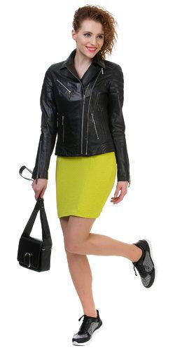 Кожаная куртка кожа овца, цвет черный, арт. 18700034  - цена 12990 руб.  - магазин TOTOGROUP
