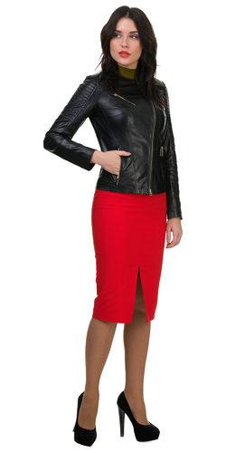 Кожаная куртка кожа овца, цвет черный, арт. 18700036  - цена 11990 руб.  - магазин TOTOGROUP