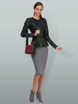 Кожаная куртка кожа овца, цвет черный, арт. 18700040  - цена 13990 руб.  - магазин TOTOGROUP