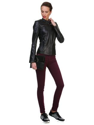 Кожаная куртка кожа овца, цвет черный, арт. 18700052  - цена 13990 руб.  - магазин TOTOGROUP