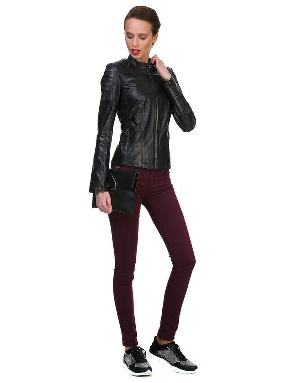 Кожаная куртка кожа , цвет черный, арт. 18700052  - цена 9490 руб.  - магазин TOTOGROUP