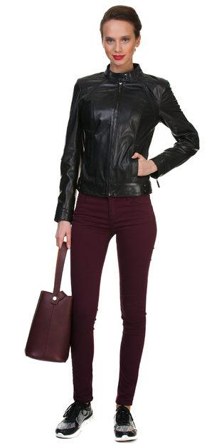 Кожаная куртка кожа овца, цвет черный, арт. 18700054  - цена 12990 руб.  - магазин TOTOGROUP