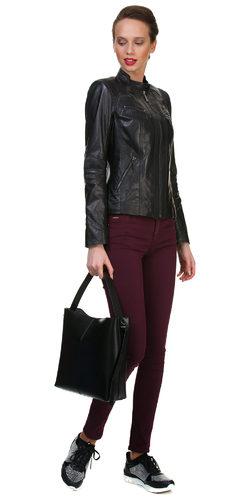 Кожаная куртка кожа овца, цвет черный, арт. 18700056  - цена 12990 руб.  - магазин TOTOGROUP