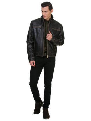 Кожаная куртка кожа овца, цвет черный, арт. 18700062  - цена 14990 руб.  - магазин TOTOGROUP