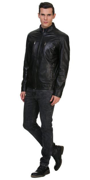 Кожаная куртка кожа овца, цвет черный, арт. 18700067  - цена 14990 руб.  - магазин TOTOGROUP