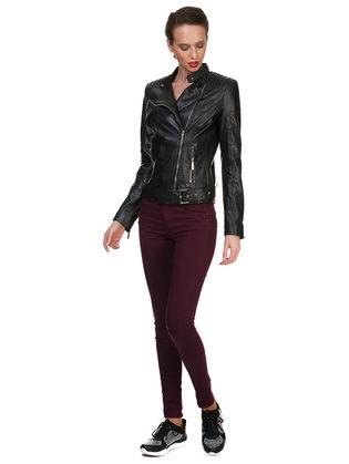 Кожаная куртка кожа овца, цвет черный, арт. 18700114  - цена 13990 руб.  - магазин TOTOGROUP